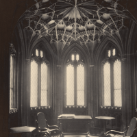 The former oratory chapel in the lower cloisters, photographed in July 1897. © Parliamentary Archives, HC/LB/1/111/5/9. https://archives.parliament.uk/