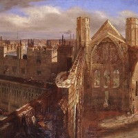 Detail from 'Panorama of the Ruins of the Old Palace of Westminster', 1834, by George Scharf. © Palace of Westminster Collection (WOA 3793) http://www.parliament.uk/art