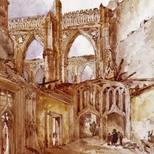 The Cloister Ruins. © Parliamentary Art Collection, WOA 1278