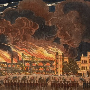 The Fire from Old Palace Yard. © Parliamentary Art Collection, WOA 1668a