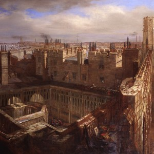 Upon Westminster Hall. © Parliamentary Art Collection, WOA 3783