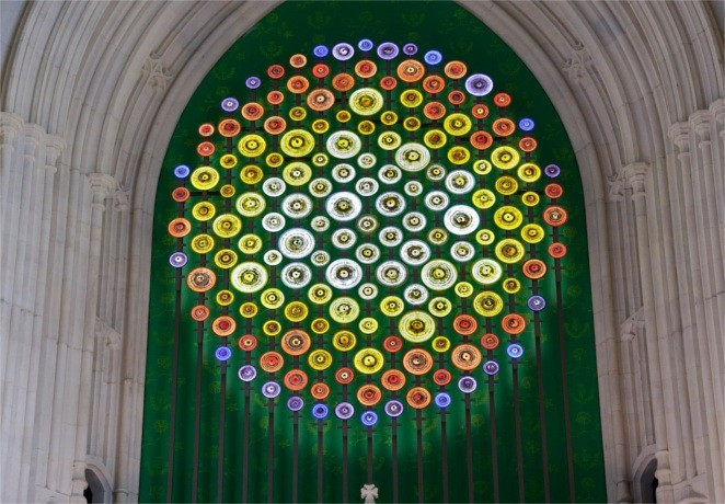 New Dawn, by Mary Branson, installed over the Entrance to St Stephen's Hall. © UK Parliament / Jessica Taylor.