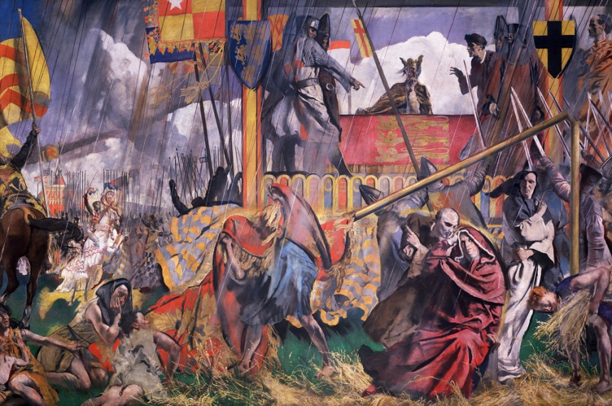 King John confronted by his Barons assembled in force at Runnymede gives unwilling consent to Magna Carta, the foundation of justice and individual freedom in England, 1215, by Charles Sims. Oil on canvas, 1927. © Palace of Westminster Collection WOA 2602, http://www.parliament.uk/art.