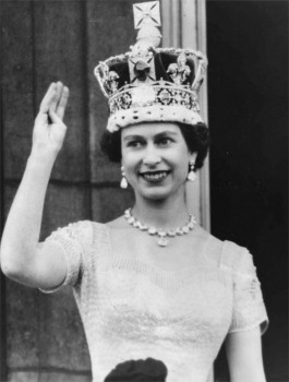 HM Queen Elizabeth II after her Coronation, 2nd June 1953.