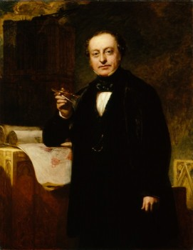 Sir Charles Barry, by John Prescott Knight. Oil on canvas, c.1851. © The National Portrait Gallery, London. NPG 1227.