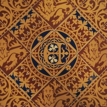 Examples of tiles from St. Stephen's Hall. (© Parliamentary Estates Directorate)