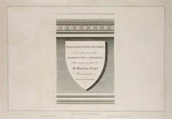 Titlepage to John Topham's 'Some Account of the Collegiate Chapel of Saint Stephen at Westminster' (1795).