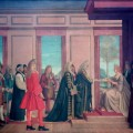 The English and Scottish Commissioners present to Queen Anne at St James's Palace the Articles of Agreement for the Parliamentary Union of the Two Countries, 1707, by Sir Thomas Monnington. Oil on canvas, 1928. © Palace of Westminster Collection, WOA 2599